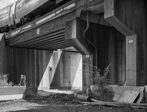 Railroad Trestle and Amtrak Train, Chouteau's Landing