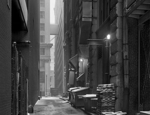 Alley, Pine Street, Blizzard, 2019