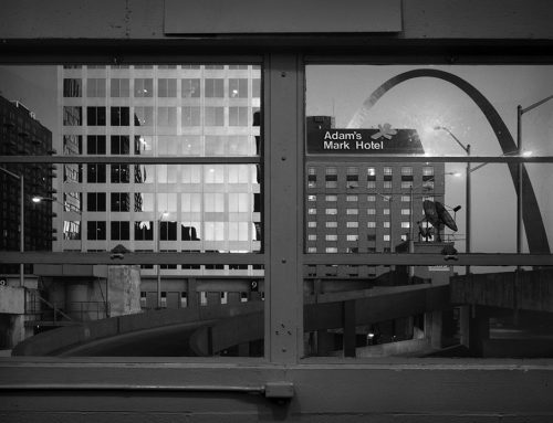 Arch From Elevator Lobby of Kiener Plaza Garage, 1990 (Ode for Joel Meyerowitz)