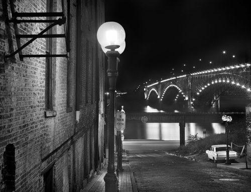 Eads Bridge, Night, Laclede's Landing, 1982