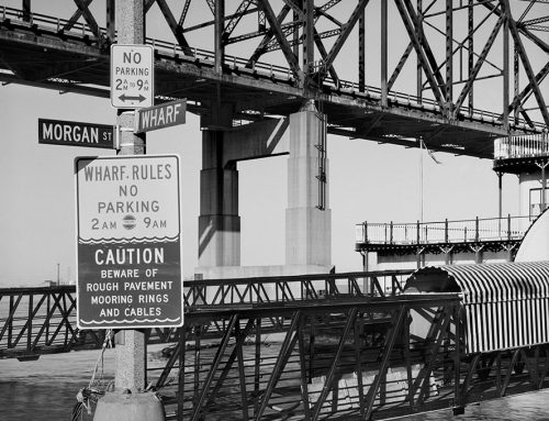 Martin Luther King Bridge, Gangplank, From Wharf Street, 1981