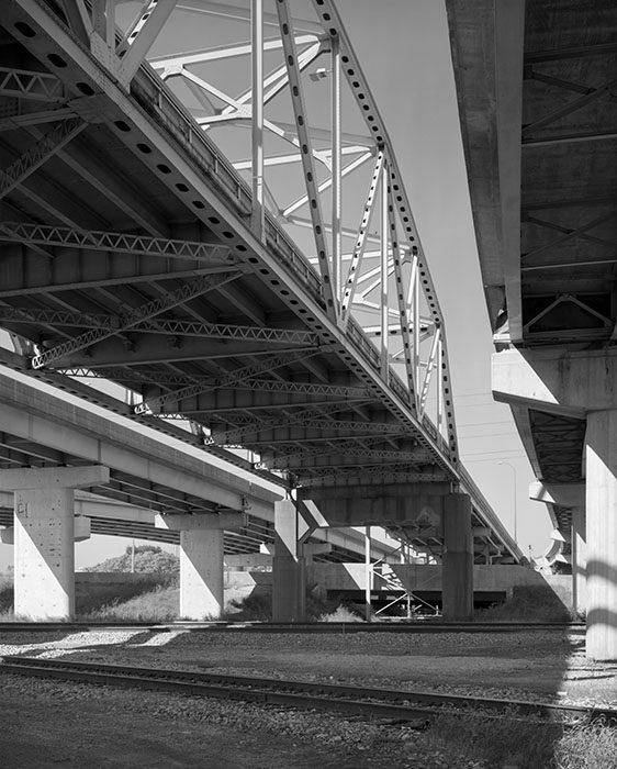 Martin Luther King Bridge Approaches, Railroad Tracks, East Saint Louis , Illinois, 2018