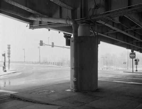 Washington and Memorial, Entrance to Eads Bridge, Blizzard, 2019