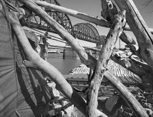 Homeless Shelter 7, MacArthur Bridge, Winter, 2021