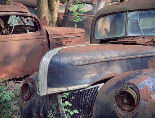 Old Car, Leaves #5, St. Genevieve, Missouri